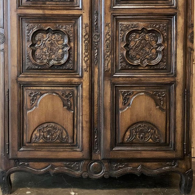 Antique French Louis XIV Walnut Armoire For Sale - Image 11 of 13