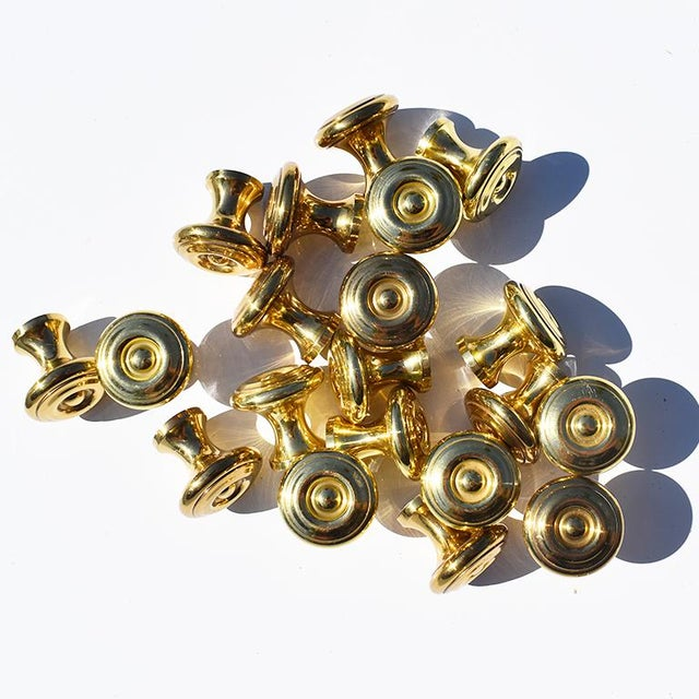 1970's Vintage Sherle Wagner Small Round Gold Drawer Pulls For Sale In Oklahoma City - Image 6 of 6