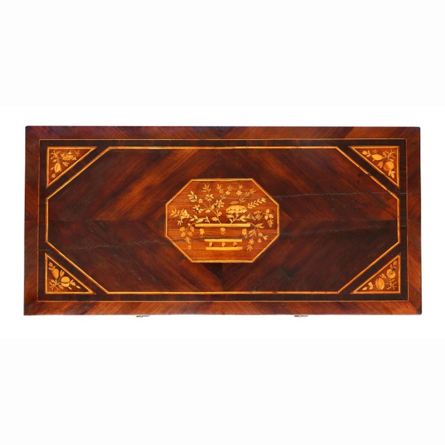 Italian Italian Neoclassic Marquetry Inlaid Commode For Sale - Image 3 of 13