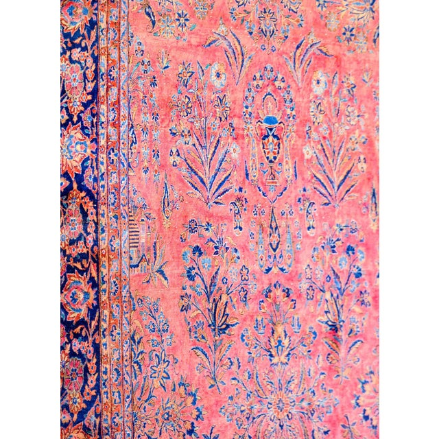 1920 Persian Kashan Rug For Sale In Chicago - Image 6 of 9