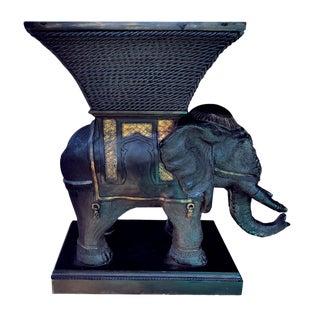 Vintage Jumbo Sized Elephant Effigy Planter For Sale
