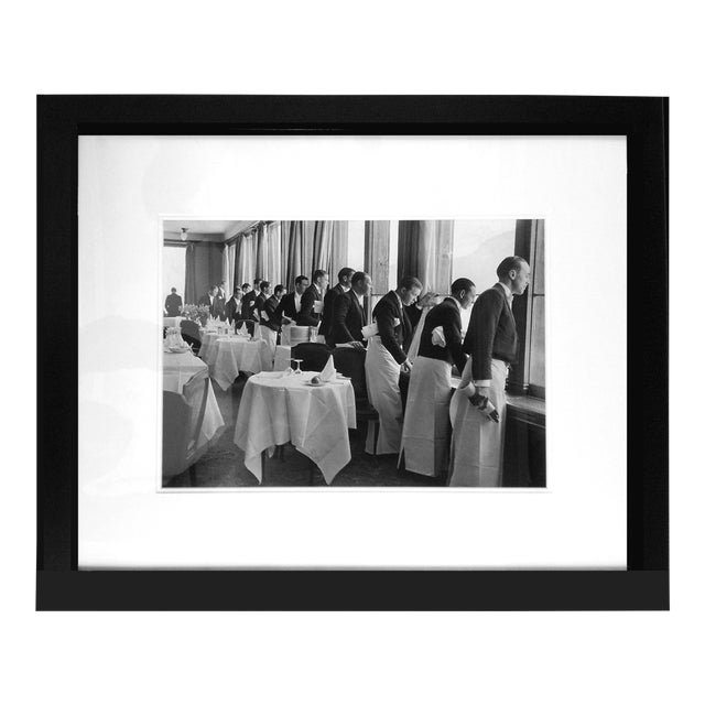 "Alfred Eisenstaedt ""Waiters Watching Sonya Henie Skate"" Photograph - Image 1 of 3"