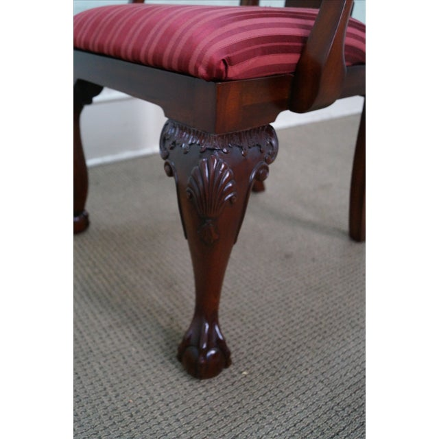 Maitland Smith Mahogany Chippendale Arm Chairs - 2 - Image 10 of 10