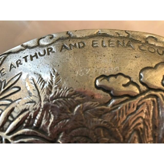 Chrome Arthur Court Jaguar Plate For Sale - Image 8 of 10