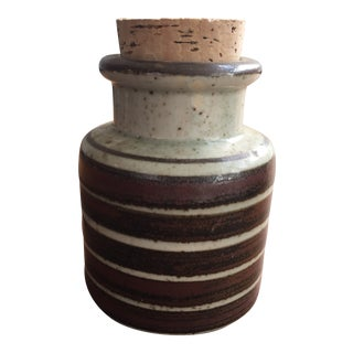 Vintage Japanese Ceramic Jar For Sale