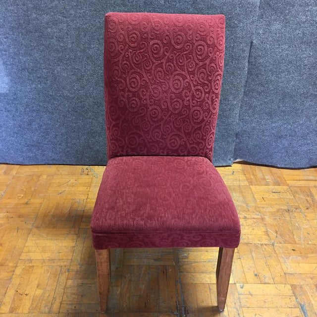 Red Armless Chairs - Set of 6 - Image 6 of 9
