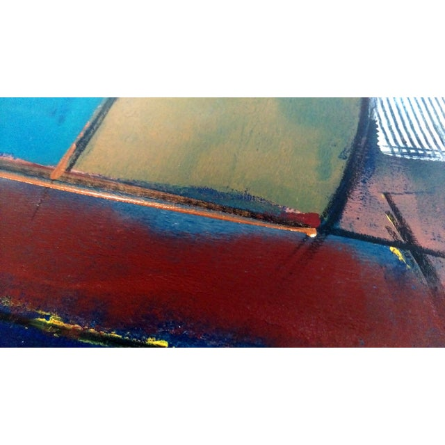 Kamy Deljou Abstract Mixed Media Monotype I - Image 6 of 8