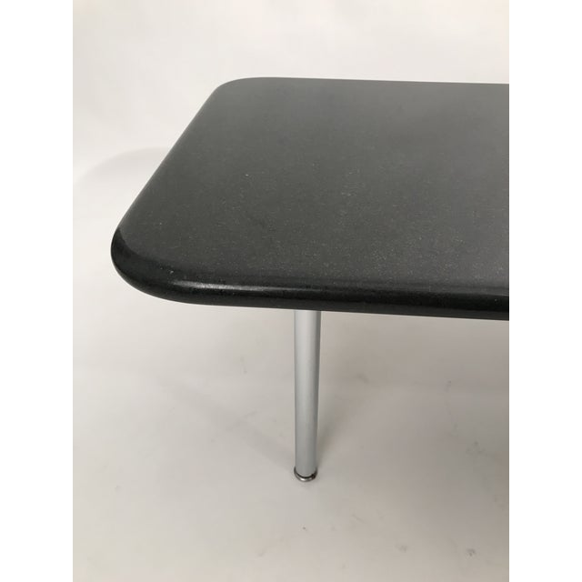 Chrome Rare George Nelson Granite Coffee Table For Sale - Image 7 of 10