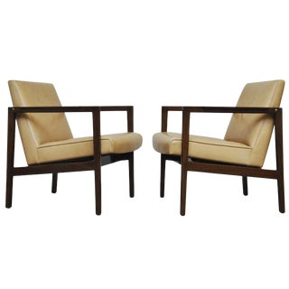 Edward Wormley Open Frame Lounge Chairs for Dunbar For Sale