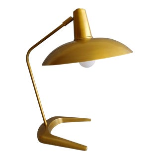 Robert Abbey Mid-Century Style Brass Desk Lamp For Sale