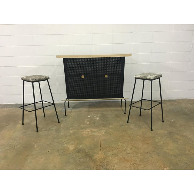 Atomic Vintage Bar With 2 Stools - Image 4 of 11