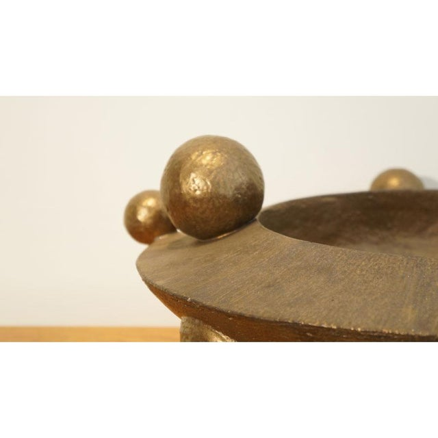 2010s Contemporary Bronze Orb Vessel For Sale - Image 5 of 8