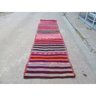 1960s Turkish Striped Kilim Runner Preview