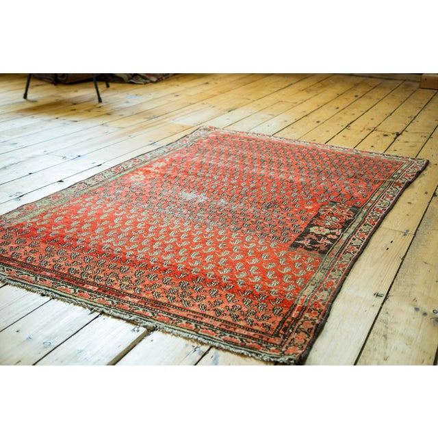 "Antique Persian Malayer Rug - 3'6"" x 5'6"" - Image 5 of 5"