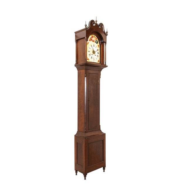 Brown Antique Long Case Clock For Sale - Image 8 of 8