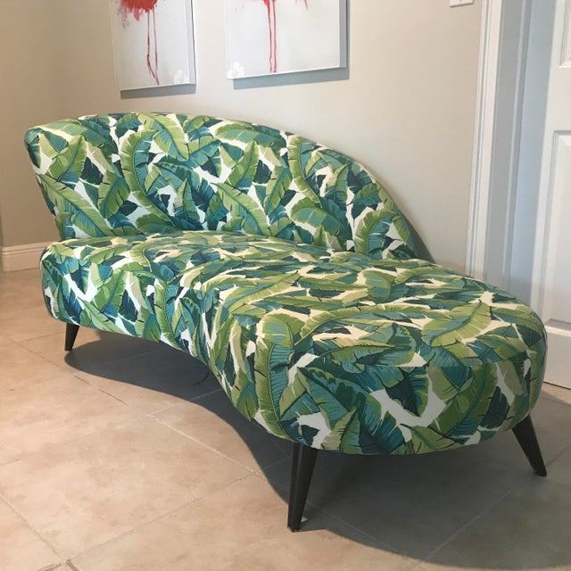Green Palm Beach Chaise Lounge One of a Kind For Sale - Image 8 of 13