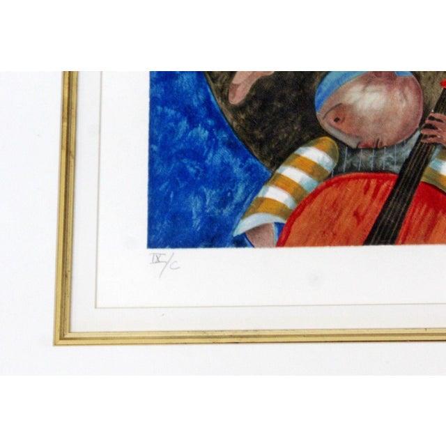 Mid-Century Modern Gold Gilt Framed Lithograph Signed by Graciela Boulanger For Sale - Image 4 of 7
