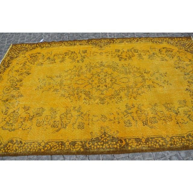 Turkish Handmade Yellow Rug - 5′8″ × 9′6″ - Image 3 of 6