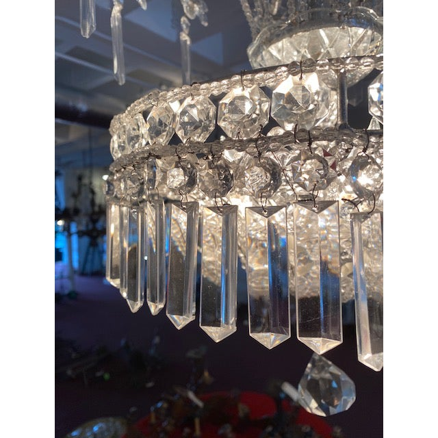 Silver Italian Chandelier For Sale In Atlanta - Image 6 of 7