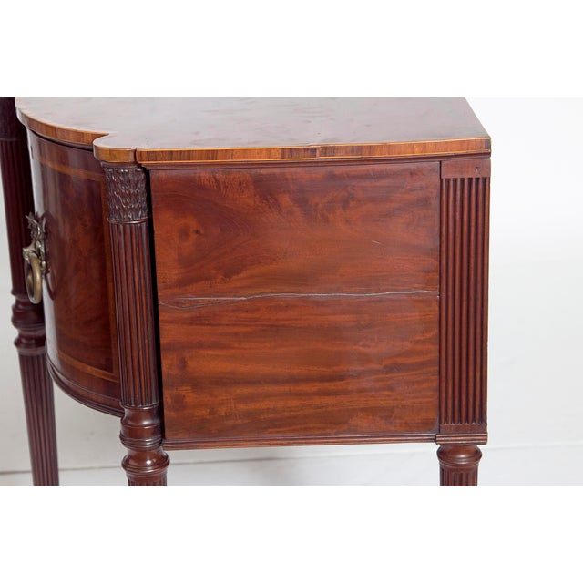 Brass Late 18th Century Mahogany George III Sideboard With Cellerette For Sale - Image 7 of 13