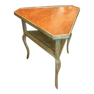 Minton-Spidell French Corner Table W/ Sienna Marble Top For Sale