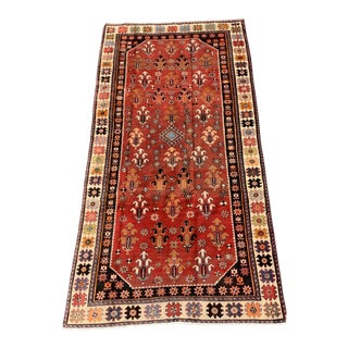 1950s Vintage Persian Bactiari Rug - 4′6″ × 9′3″ For Sale
