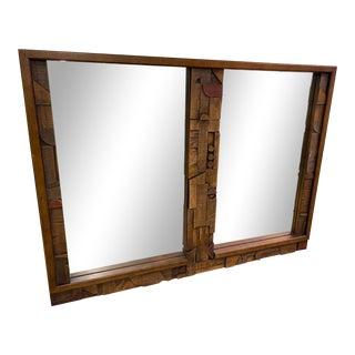 Lane Brutalistic Pueblo Mirror For Sale