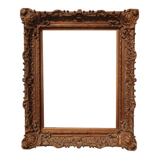 "Tall 55""h Ornate Vintage French Provincial Gold Picture Frame Louis XVI Rococo Style For Sale"