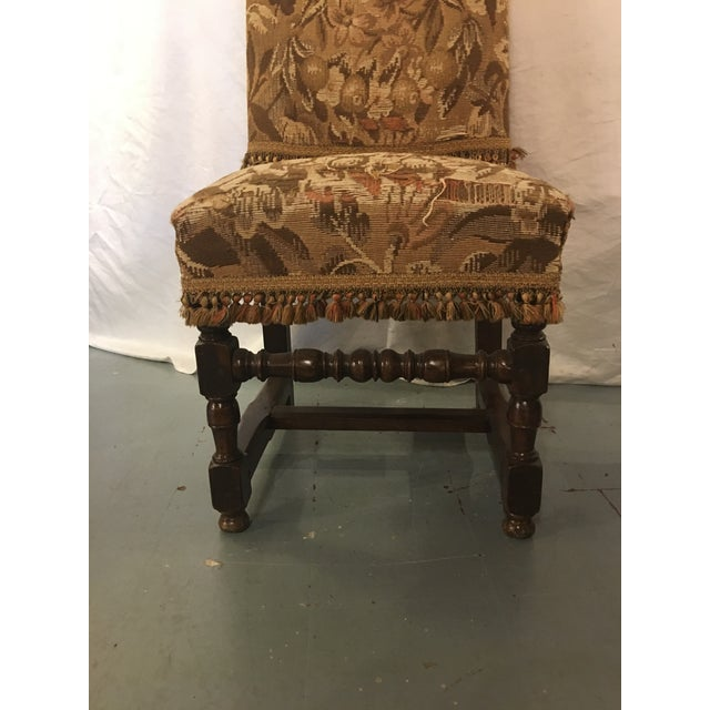Antique Louis XVIII Period Side Chairs With 19th Century Upholstery - a Pair For Sale - Image 6 of 8