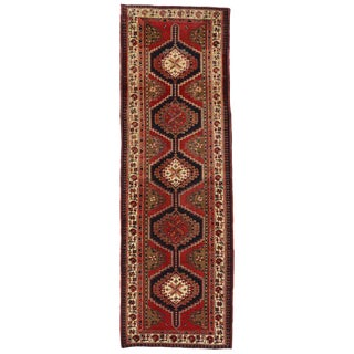 20th Century Nomadic Style Persian Azerbaijan Tribal Hallway Runner - 3′7″ × 10′9″ For Sale