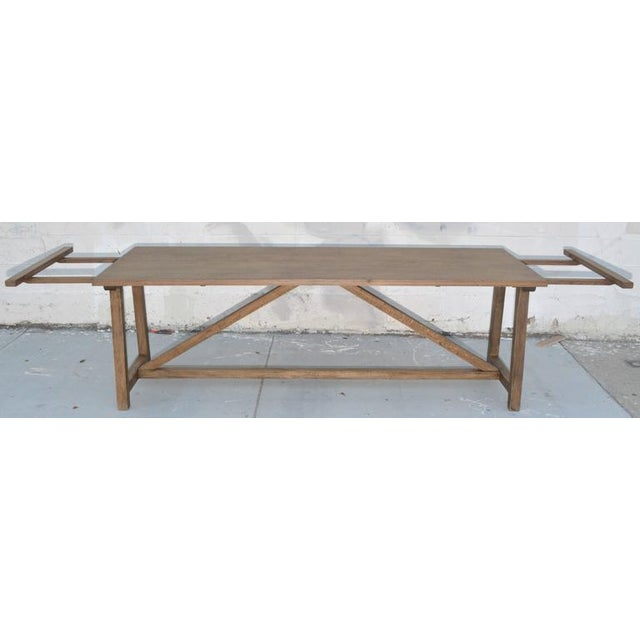 Not Yet Made - Made To Order Rustic Extendable Dining Table in Vintage Oak For Sale - Image 5 of 11
