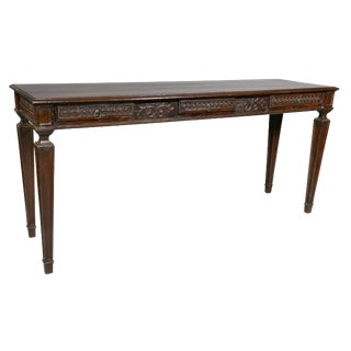 Louis XVI Style Oak Side Table For Sale