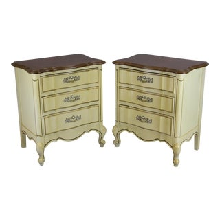 Mid Century French Provincial Nightstands - a Pair