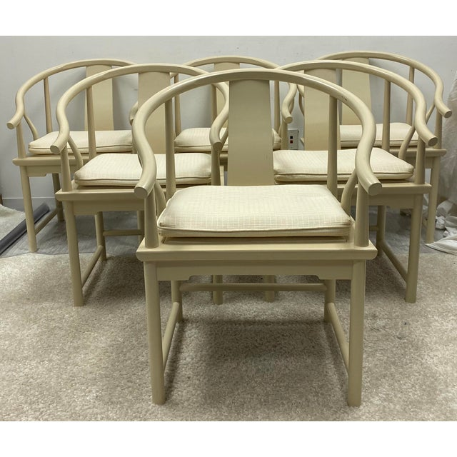 Ming Style Dining Chairs by Baker Furniture - Set of 6 For Sale In Atlanta - Image 6 of 7