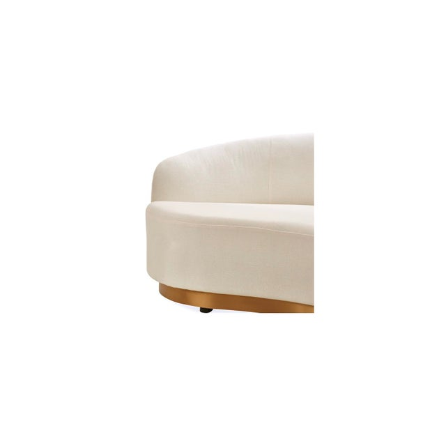 Mid-Century Modern Vesta Marcella Curved Sofa in White For Sale - Image 3 of 5