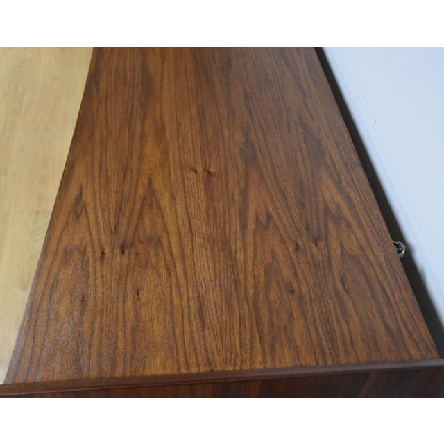 Mid-Century Sculpted Walnut Dresser - Image 9 of 11