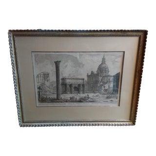 """18th Century Original """"Arco DI Settimo Severo"""" Engraving by Piranesi For Sale"""