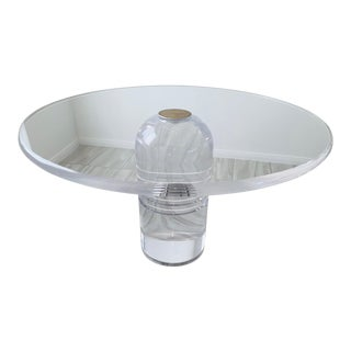 Charles Hollis Jones Monumental Lucite Le Dome Dining Table For Sale