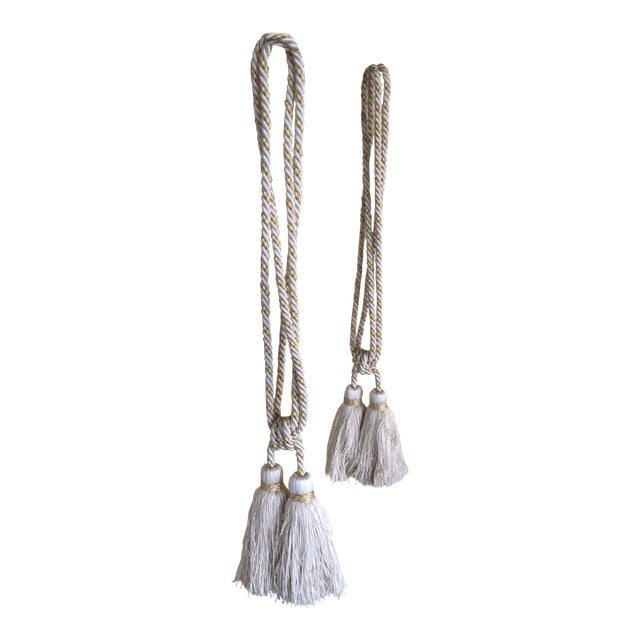 2000 - 2009 Samuel & Sons Double Tie Back Tassels - a Pair For Sale - Image 5 of 5