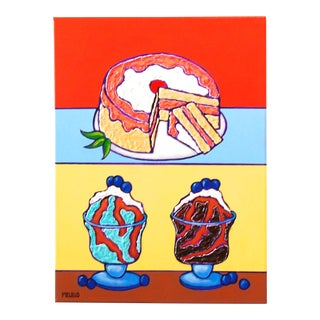 Pop Art Series Painting, Ice Cream Cake by Tom Melillo For Sale