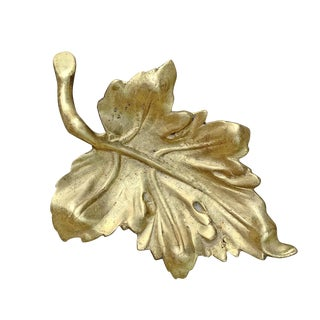20th Century American Cast Bronze Leaf Dish For Sale