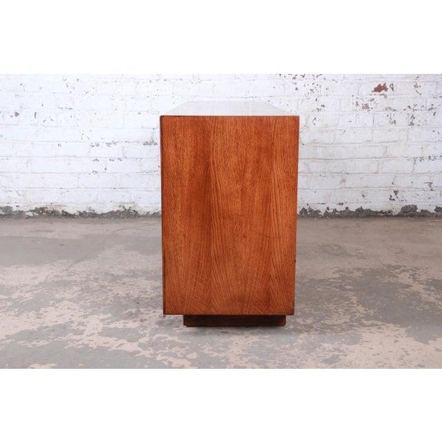 Lane Pueblo Brutalist Mid-Century Modern Oak Long Dresser or Credenza, 1970s For Sale - Image 11 of 13