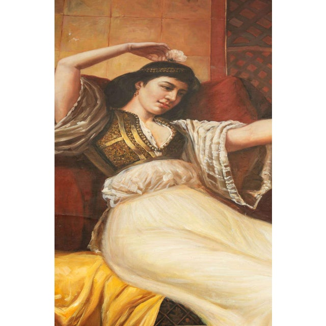 Islamic Large Orientalist Oil on Canvas For Sale - Image 3 of 7