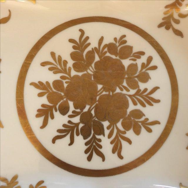 French Gold & White Porcelain Bowl - Image 3 of 5