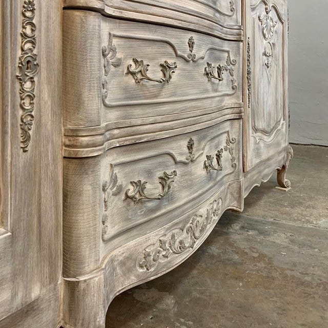 White Antique French Louis XV Whitewashed Buffet For Sale - Image 8 of 13