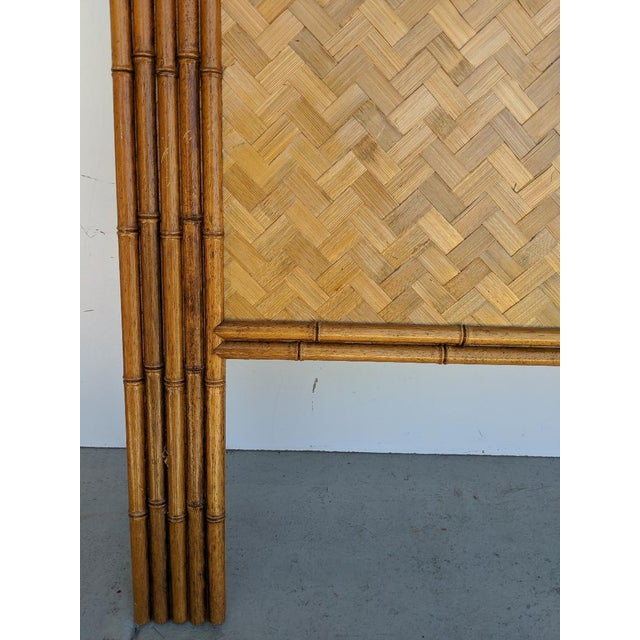 Carved Faux Bamboo Twin Headboards, a Pair - Taiwan For Sale - Image 4 of 10