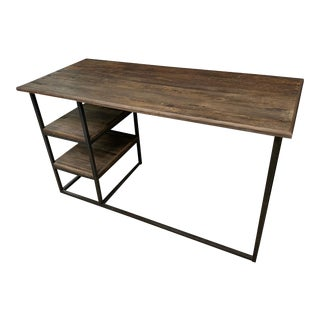Restoration Warehouse Refurbished Elm Desk For Sale