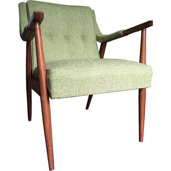 Mid-Century Danish Modern Oak Accent Chair - Image 1 of 5