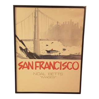 Noal Betts San Francisco Travel Poster For Sale