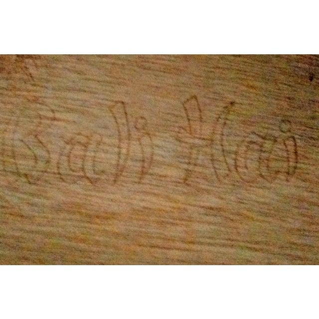 Henry Link Bali Hai Faux Bamboo Light Blue Highboy Five Drawer Dresser - Image 8 of 10